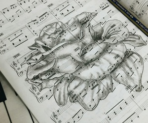 drawing, music, and note image