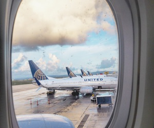 airplanes, airports, and sky image