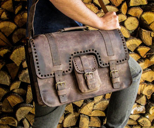 etsy, leather backpack, and messenger bags image