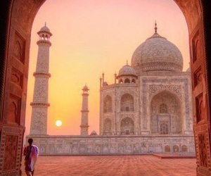 india, travel, and taj mahal image