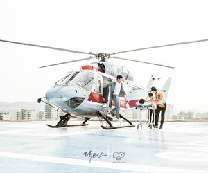 asian, Helicopters, and hospital image