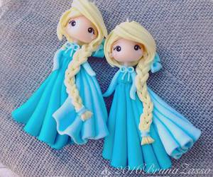disney, fimo, and frozen image