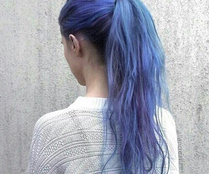 Bleu, cheveux, and rose image