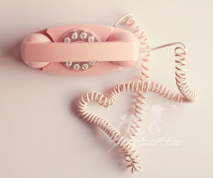 pink, phone, and vintage image