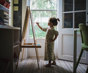 art, artist, and easel image