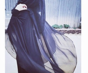 black, hijab, and islam image