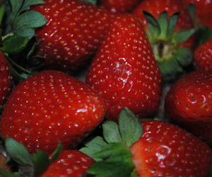 red, strawberry, and yum image