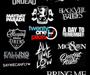 all time low, bring me the horizon, and mayday parade image