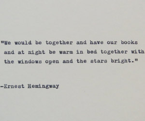 ernest hemingway, etsy, and love quote image