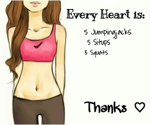 heart, thanks, and situp image