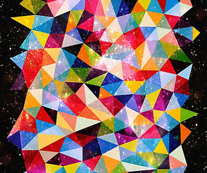 abstract, bold, and colorful image