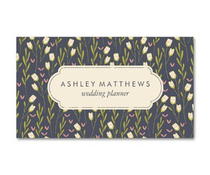 business cards, floral, and flower pattern image