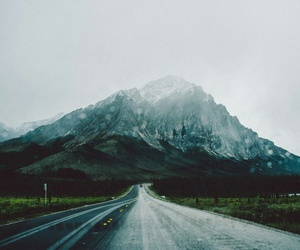mountain, road, and nature image