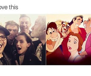 beauty and the beast, disney, and cute image