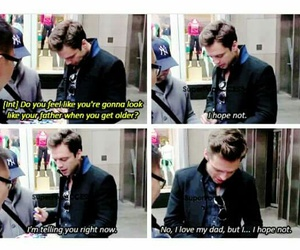 funny, Marvel, and sebastian stan image