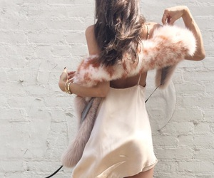 fashion, gold pink, and girl image