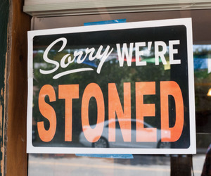 stoned, sign, and weed image