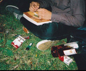 cigarette, alcohol, and weed image