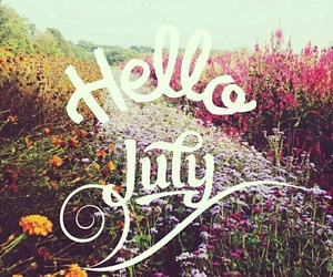 july, summer, and flowers image