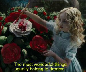 alice in wonderland, dreams, and movie image