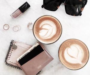 sunglasses, coffee, and pretty image