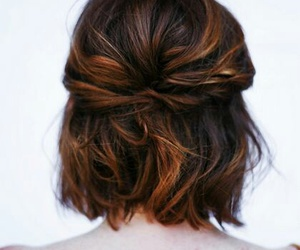 hair, simple hairstyle, and hairstyle image