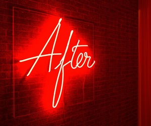 neon, red, and text image