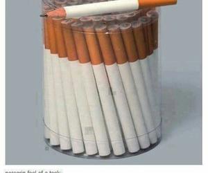 ciggarette, pencil, and stress image