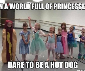 funny, princess, and hot dog image