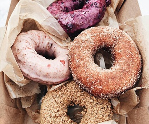 delicious, sweet, and doughnut image