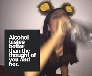 alcohol, quotes, and drink image