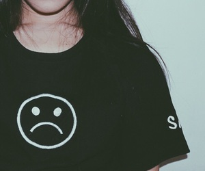 black, sad, and clothes image