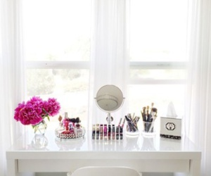 beuty, dressing table, and lipgloss image