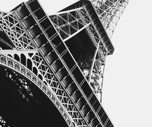 black and white, city, and france image