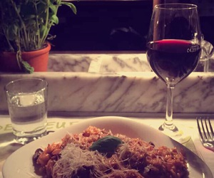 dinner, food, and wine image