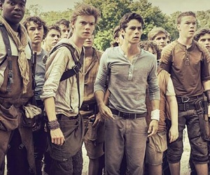 the maze runner, newt, and dylan o'brien image