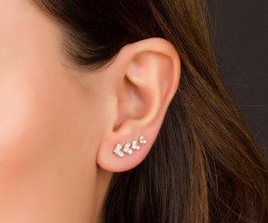 ear climbers, cuff earrings, and ear pins image