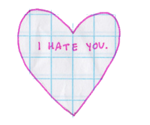 hate, heart, and tumblr image