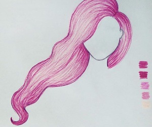 art, hair, and ombre image