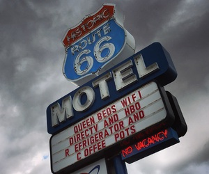 hotel, motel, and route 66 image