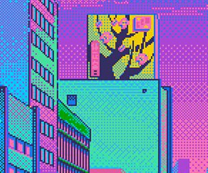 aesthetic, pixel, and wallpaper image
