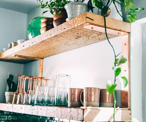 interior, kitchen, and plants image