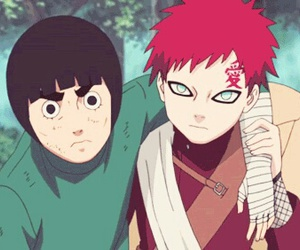 gaara, naruto, and rock lee image