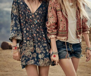 boho, hippie, and hair image