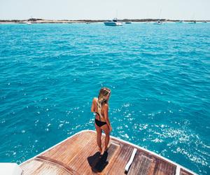 bikini, blonde, and ocean image