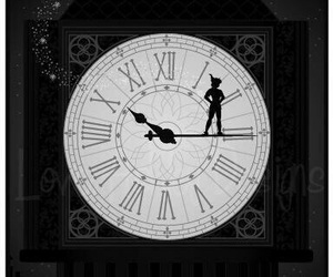 peter pan, disney, and clock image