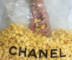 chanel, aesthetic, and popcorn image