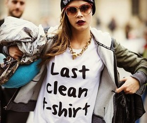 cara delevingne, model, and t-shirt image