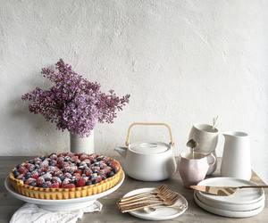 cakes, flowers, and lilac image