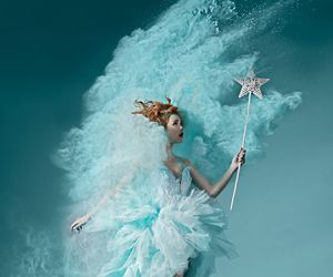 blue, fairy, and magic image